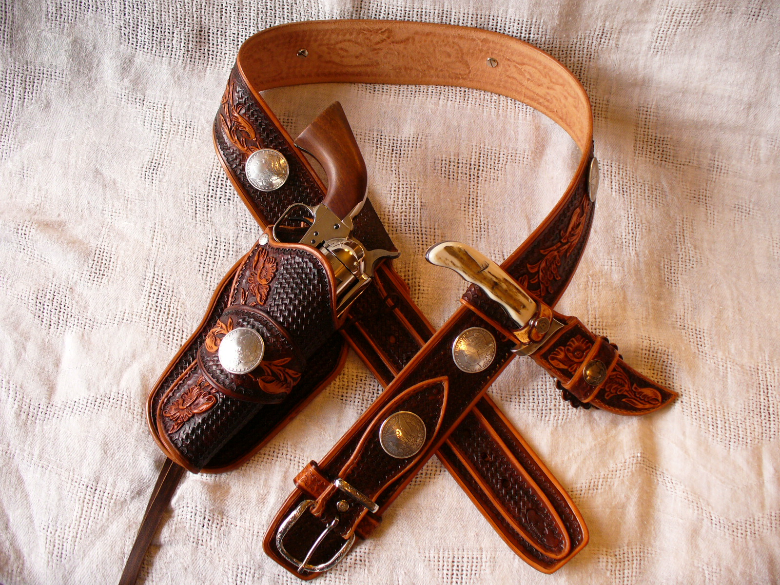 belt with holster & knife